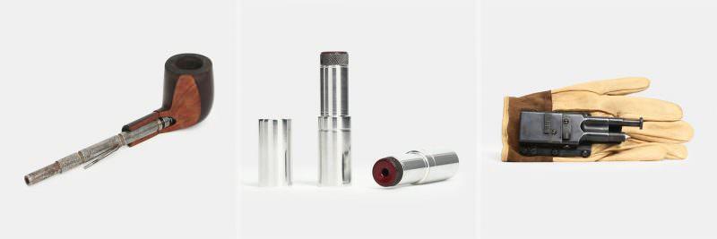 Versteckte Schusswaffen: Pfeifen-, Lippenstift- und Handschuhpistole